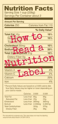 We have a simple guide to reading a nutrition label http://www.skinnymom.com/the-nutrition-bars-causing-you-to-gain-weight/