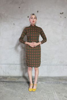 Cheongsam Kleid 60er Jahre Vintage retro von youngandukraine