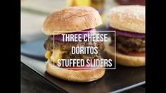 When it comes to delicious and fun summer recipes, nothing can beat these Doritos Stuffed Three-Cheese Sliders! Fire up the grill and surprise your backyard barbecue guests with a bold flavored dish they won't be able to get enough of. Set out all the classic burger toppings—like lettuce, tomato, onion, ketchup, and mustard—and serve up everyone's favorite Frito-Lay® products to pull your dinner menu together.