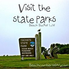Visit the state parks- Beach Bucket List