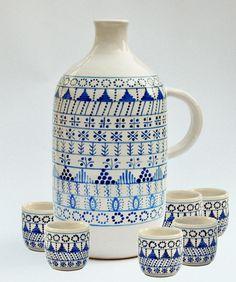 From Liskovci of Modra Tile Art, Graphic Design Art, Home Goods, Objects, Blue And White, Design Inspiration, Pottery, Mugs, Tableware