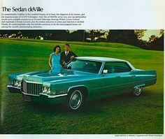 1970 Cadillac Sedan deVille print ad