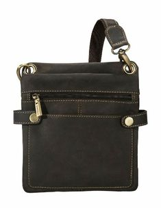 Visconti 18511- 18512 Distressed Slim Leather Crossbody Messenger Bag/ Handbag $54.51 (save $65.48)