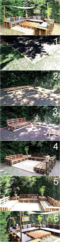 DIY Wooden Pallets Patio Furniture Terrace