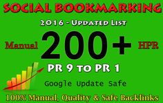 do 200 Manual Social Bookmarking Submissions PR 9 to 1 by smartkarthick