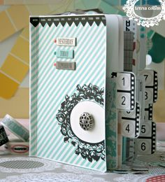 *Teresa Collins* Planner using stitched notebook - Scrapbook.com