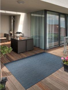In- & Outdoor Teppich Metro Sisal Optik Blau