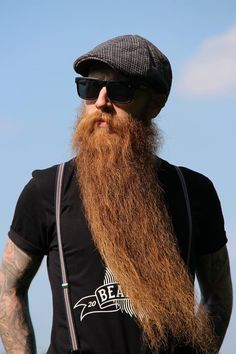 Michael Legge, officially has Britain's longest beard (as of 2014) and it has…