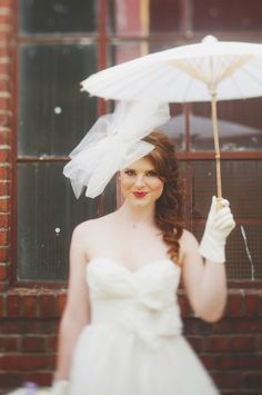 This bride's got style. And gorgeous filter on this photo.
