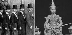 The son of the King of Siam (Yul Brynner's character) was King Chulalongkorn of Siam, otherwise known as Rama V Here he is on a European tour (left) and in traditional garb (right). He learned to live in both worlds. World Calendar, Modern World History, Yul Brynner, Tsar Nicholas Ii, University Of Virginia, A Day To Remember, European Tour, Old Photos, Thailand