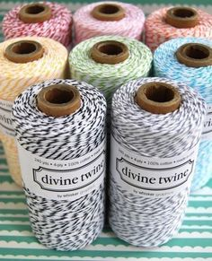 bakers twine. . . $3 also have some cute printables/templates.