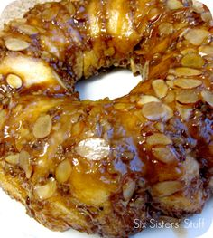 Delicious Sticky Bun Breakfast Ring- made with refrigerated biscuits, making it so simple to throw together!