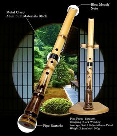 The shakuhachi is a Japanese end-blown flute. It is traditionally made of bamboo