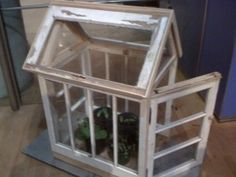 Plant house out of old windows