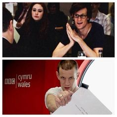 Matt Smith's first and last read-throughs... Why am I so sad?<<-- BECAUSE HE'S AMAZING AND ADORABLE AND ELEVEN, YOU FUCKTARD
