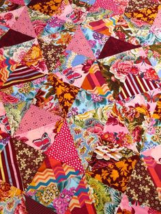 Velveteen Quilt using two of Anna Maria Horners wonderful velevteens from Jane Brocket. Yarnstorm Press
