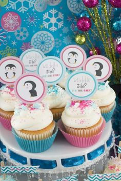 Penguins Gender Reveal Party Ideas | Photo 1 of 22 | Catch My Party