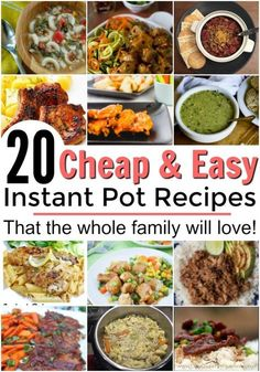 The best cheap and easy instant pot recipes that you won't want to miss! These are all family and budget friendly! Instant pot cooking for beginners. Easy meals in the Instant Pot. 15 minute meals for the Instant Pot. Best Instant Pot Recipe, Instant Pot Dinner Recipes, Instant Recipes, Recipes Dinner, Pizza Recipes, Salad Recipes, Whole30, Cheap Instant Pot, Pressure Cooking Recipes