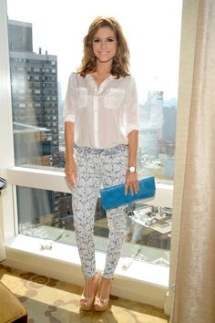 We love seeing Maria Menounos in patterned #7FAM