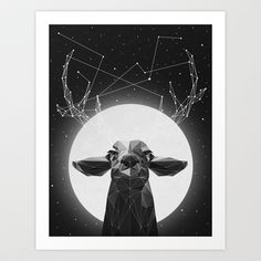 The+Banyan+Deer+Art+Print+by+Davies+Babies+-+$17.99  Deer you're coming to the new house