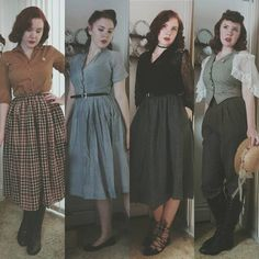 Vintage inspired fashion How to Create a Vintage Style Home Decor Vintage fashion is most simply a b Style Année 90, Mode Style, 1940s Style, Hair Style, Retro Mode, Vintage Mode, Retro Vintage, Vintage Style, Vintage Outfits