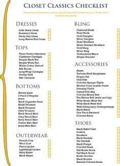 working girl beginners checklist - Click image to find more Women's Fashion Pinterest pins