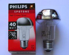 5 x Philips Reflektor Kopfspiegel Kopfspiegellampe Spot Silber R60 E27 40W 40 W