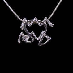 49 Leo and Aquarius Silver Unity Pendant by UnityDesignConcepts, $99.99