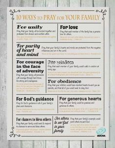 Ways to pray for your family.