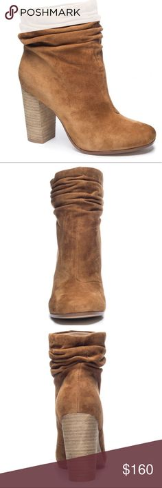 "Georgie slouch boot ‼️last one‼️ Georgie slouch boot in gorgeous caramel. Chinese laundry by Kristin Cavallari. Kid suede. Wooded block 3.75"" heel Chinese Laundry Shoes Heeled Boots"