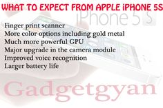 What to expect from Apple iPhone 5S  http://gadgetgyan.in/