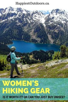 Women's hiking gear: Is it worth it? Or can you just buy unisex? Which women's hiking gear is actually worth buying? Women's hiking gear: when is it actually worth it? When should you buy women's hiking gear? Are woman's backpacks worth it? Should you buy Hiking Gear Women, Best Hiking Gear, Gear Best, Backpacking Gear, Hiking Tips, Camping Gear, Glam Camping, Adventure Activities, Best Hikes