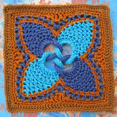 Found in Leisure Arts #3177, Absolutely Gorgeous Pineapple Afghans (follow the links on Raverly, there are beautiful color combinations of the square.