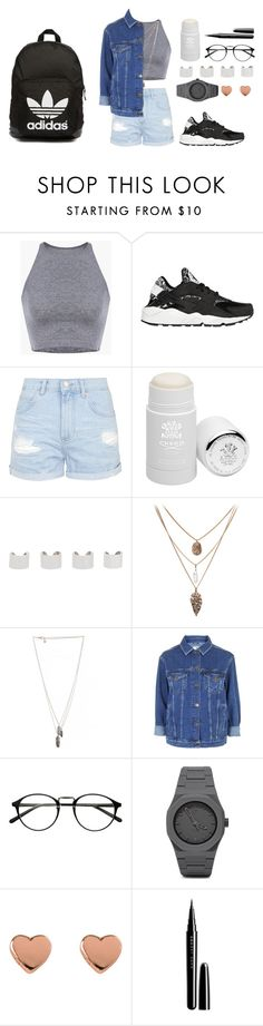 """""""new"""" by esthervyi ❤ liked on Polyvore featuring NIKE, Topshop, Creed, Maison Margiela, DailyLook, CC, Ted Baker, Marc Jacobs and adidas Originals"""