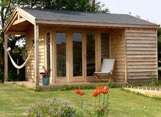 A Garden Room Story - Upgrade your Garden Area Larch Cladding, Exterior Cladding, Build Dream Home, Timber Buildings, Living Room Flooring, Concrete Floors, Dream Garden, Windows And Doors, Gazebo
