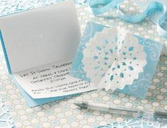 Send out a warm welcome to your cool gathering with this handmade holiday invitation idea.