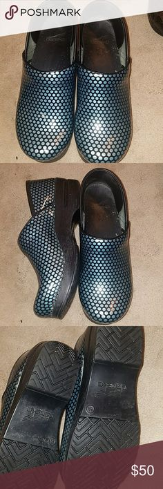 Dansko clogs still have alot of life in them Beautiful polka dots clogs, very comfortable just small for me now Dansko Shoes Mules & Clogs