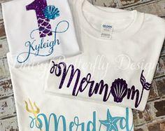 Mermaid Birthday Shirts- Adult - Birthday Shirts - Ideas of Birthday Shirts - Mermaid Birthday Shirts- Adult Mermaid Theme Birthday, Little Mermaid Birthday, Little Mermaid Parties, Girl Birthday, First Birthday Shirts, 1st Birthday Parties, Birthday Ideas, Mermaid Barbie, Birthday Surprise Boyfriend