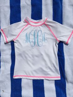Monogrammed Toddler Rash Guard by SnipsNSnailsOfChas on Etsy