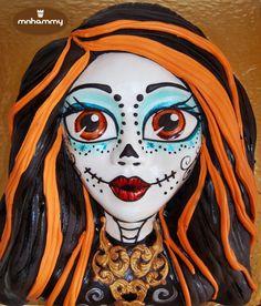 Skelita Cavalera - Monster High - Cake by Mnhammy by Sofia Salvador