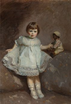 Gladys Lee Jespo Wiles (1888-1983) Girl with a Doll
