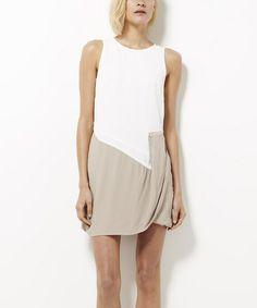 Look what I found on #zulily! White & Cloud Vicky Dress by Pink Stitch #zulilyfinds