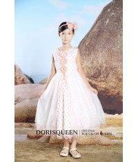 Beading circle Inflorescence flower girl dress H026