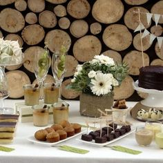 Natural Theme Dessert Table