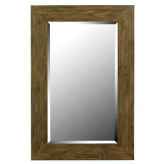 Catch your reflection as you brighten your home with this wooden decorative wall mirror. This unique piece features a dark wood grain finish to complement any room's decor. It adds both dimension and style while serving a practical purpose.