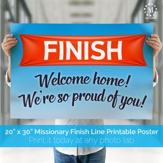 INSTANT DOWNLOAD MISSIONARY WELCOME HOME POSTER  Fill the airport, front yard…