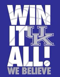Kentucky Wildcats! We took down Kansas St, then knocked off #1 seeded and undefeated Wichita St, now we've beaten hated Louisville for the second time this year. Next up is the Michigan Wolverines and chance to be in the Final Four in Dallas.