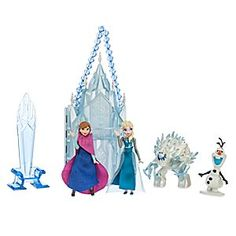 Elsa Mini Castle Play Set | Disney Store Let them chill at playtime creating imaginative new tales with our <i>Frozen</i> mini castle play set, including miniature Elsa, Anna, Olaf, and Marshmallow figures, plus ice palace and throne.