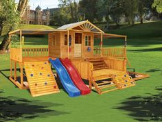 Timbertop Mansion - add a swing beam to the side and we'll never see the boys again.