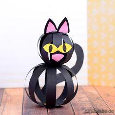 Kočka pro děti s papírovými proužky